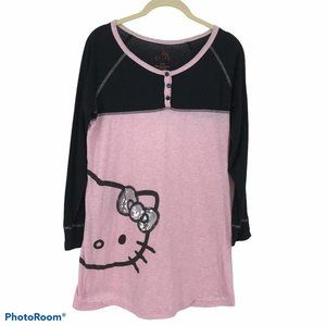 Hello Kitty pink black long sleeve tunic
